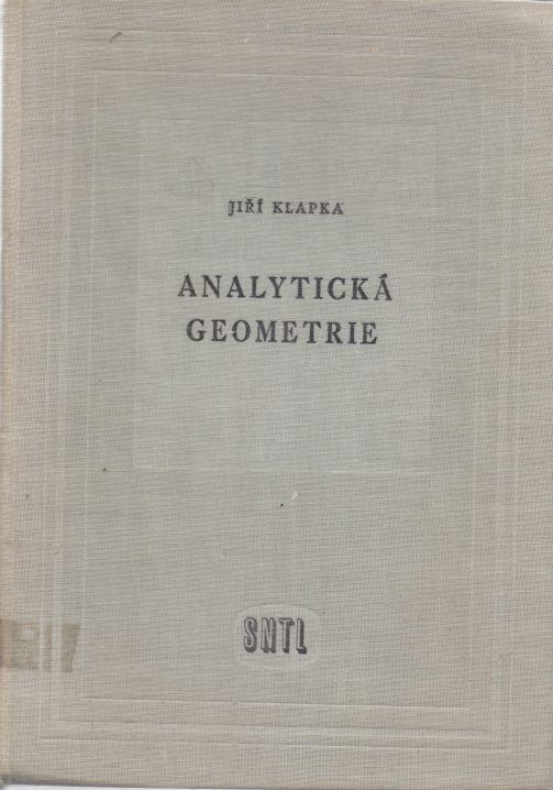 Jiří Klapka - Analytická geometrie