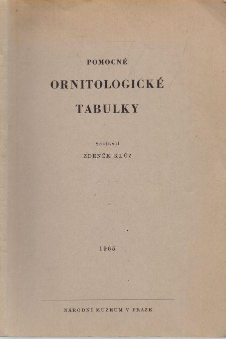 Zdeněk Klůz - Pomocné ornitologické tabulky