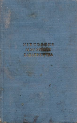 Friedrich Nitzche - Also sprach Zarathustra
