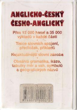 - Kapesní anglicko český, česko anglický slovník