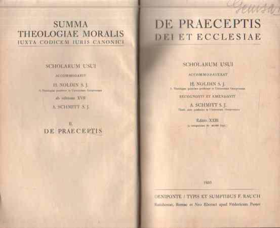 H. Noldin S.J. - Summa Theologiae Moralis II., De Praeceptis