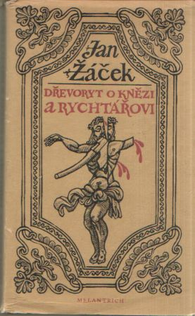 Jan Žáček - Dřevoryt o knězi a rychtářovi