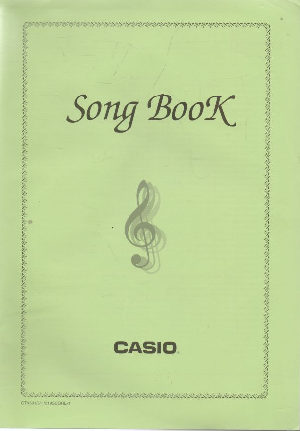- Casio. Song Book.