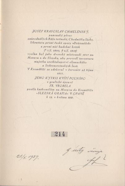Josef Krasoslav Chmelenský - Kvítí polní z Moravy a Slezska