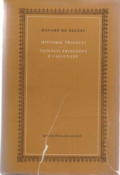 Honoré de Balzac - Historie třinácti. Tajnosti princezny z Cadignanu.