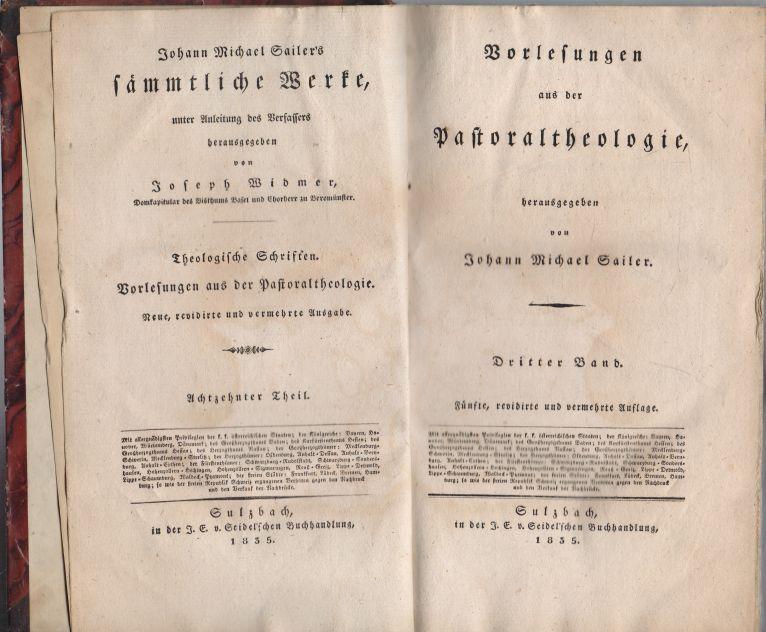 Johann Michael Sailer - Vorlesungen aus der Pastoraltheologie 3