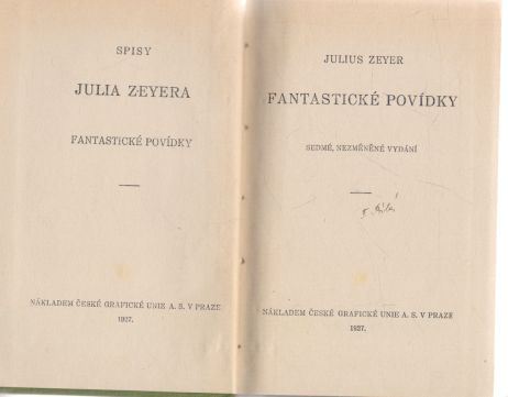 Julius Zeyer - Fantastické povídky