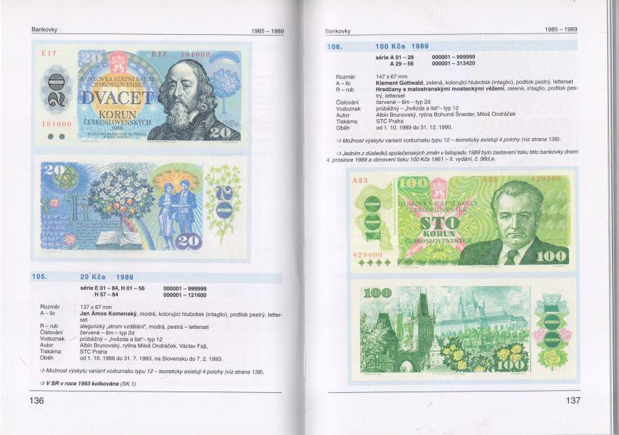 Jan Bajer - Papírová platidla Československa 1919 - 1993. České republiky, Slovenské republiky 1993 - 2003