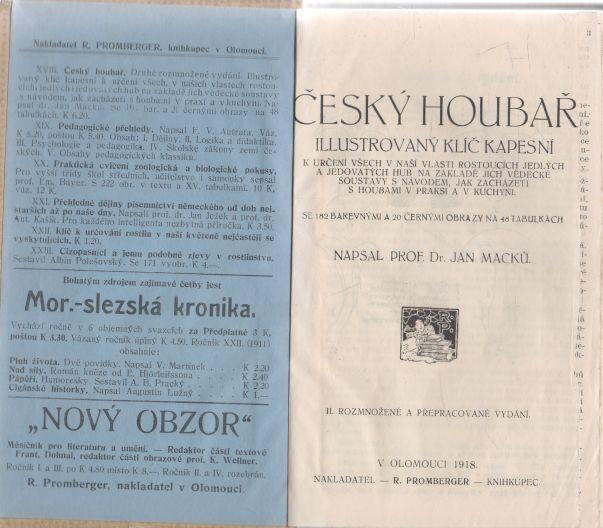 J. Macků - Český houbař