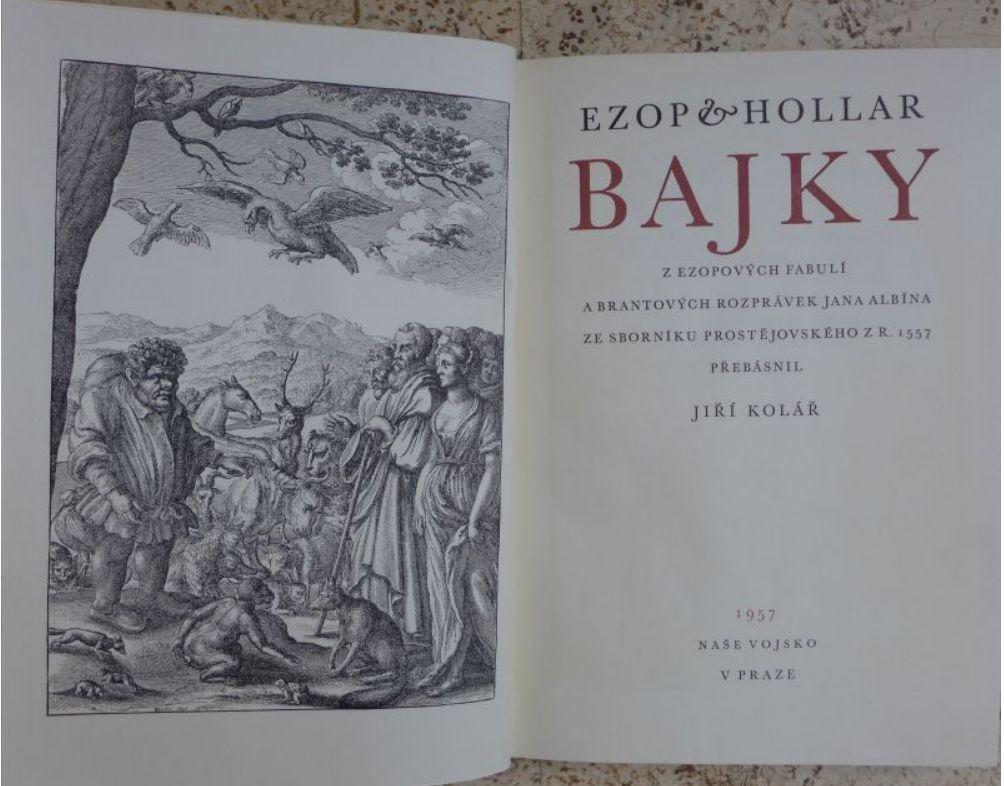 Ezop, Hollar, Kolář - Bajky
