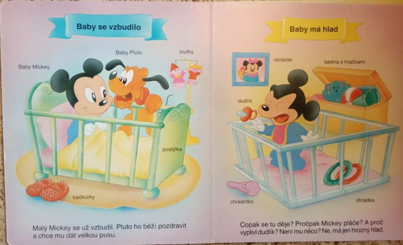 Walt Disney - Co dělá baby Mickey celý den