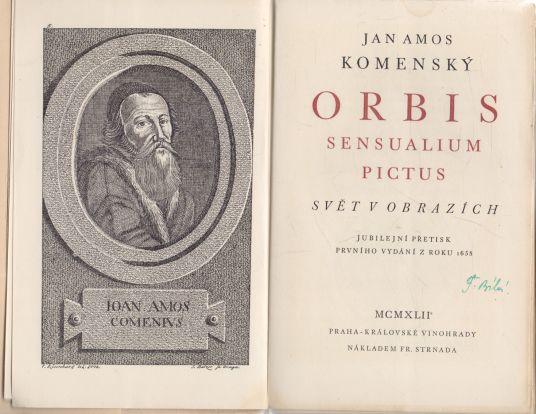 Jan Amos Komenský - Orbis Sensualium Pictus. Svět v obrazech. Svět v obrazích.