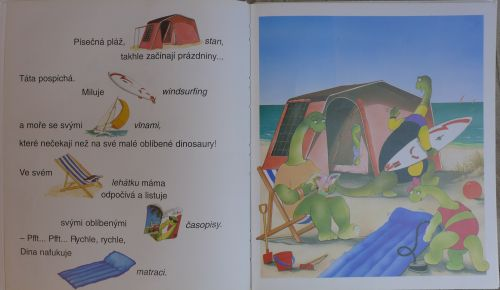 Odette Bergerová - Učím se číst s malými dinosaury