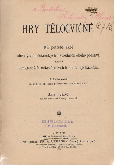 Jan Tykač - Hry tělocvičné
