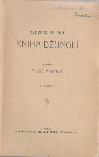 Rudyard Kipling - Kniha džunglí