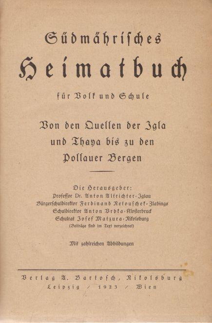 - Sudmahrisches Heimatbuch fur Volk und Schule