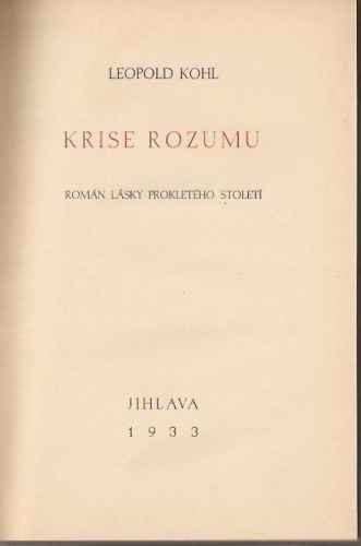 Kohl Leopold - Krise rozumu